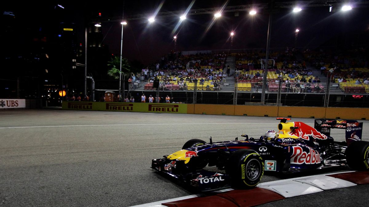 World champion Sebastian Vettel was comfortably top of the timesheets in the second practice session ahead of the Singapore Grand Prix.