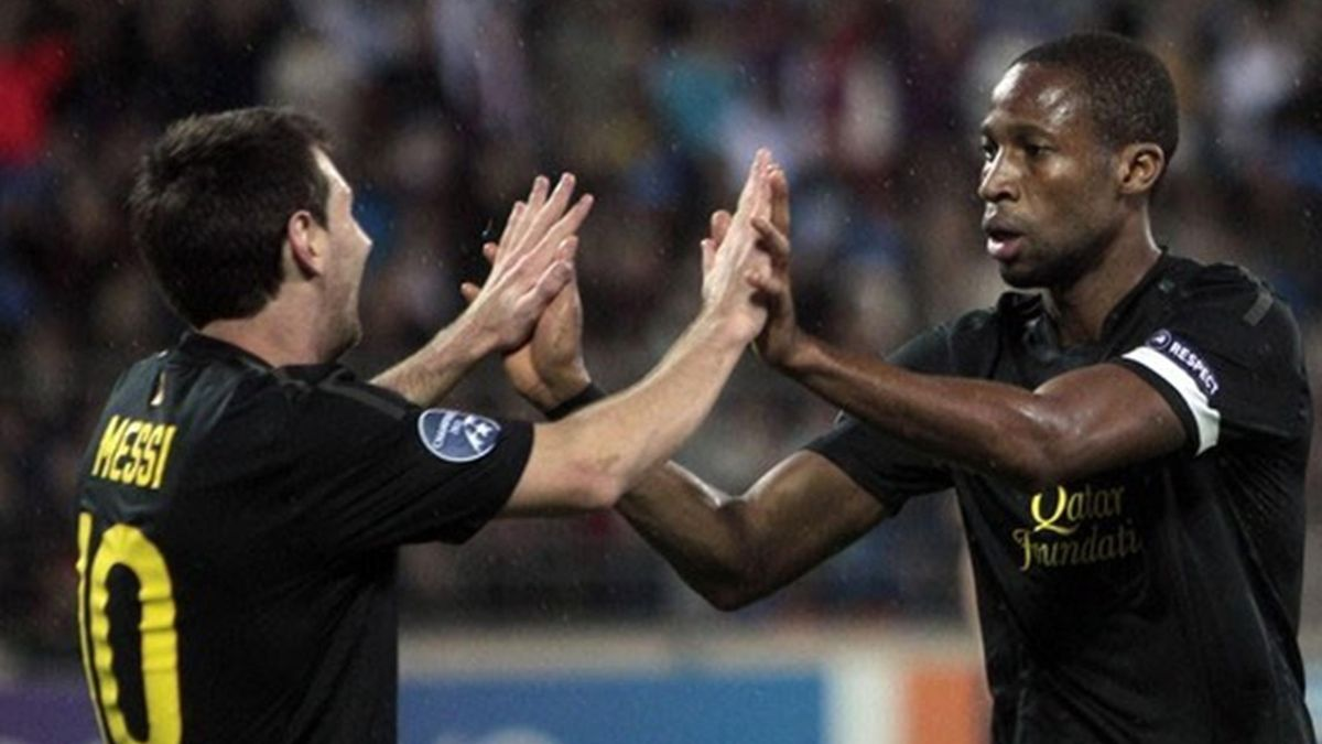 FOOTBALL - 2011/2012 - BATE Borisov-Barcelona - Messi - Keita