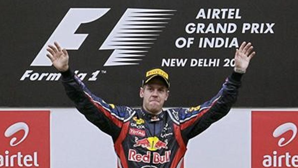 Vettel wins a tour of India