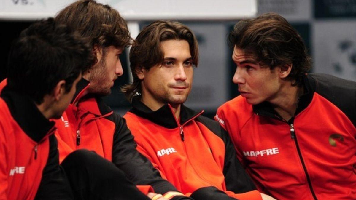 David Ferrer Rafael Nadal Spain Argentina Davis Cup