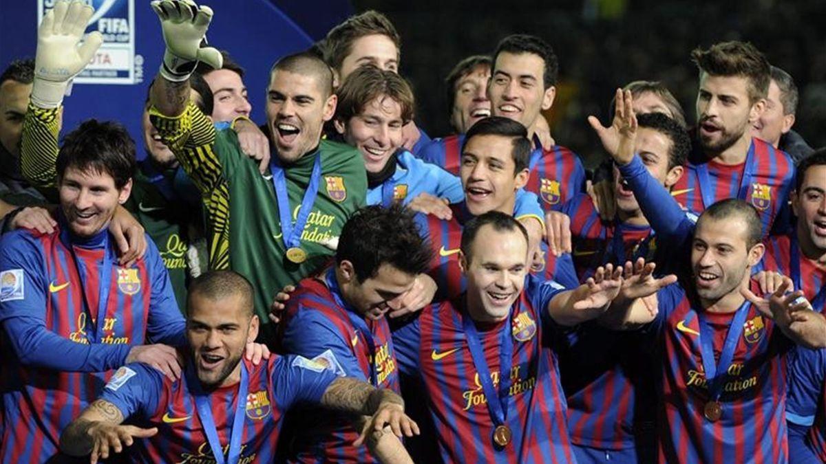 Barcelona campeón del Mundo Mundialito trofeo