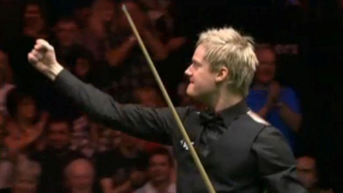 neil robertson beats judd trump in the 2012 masters semifinal