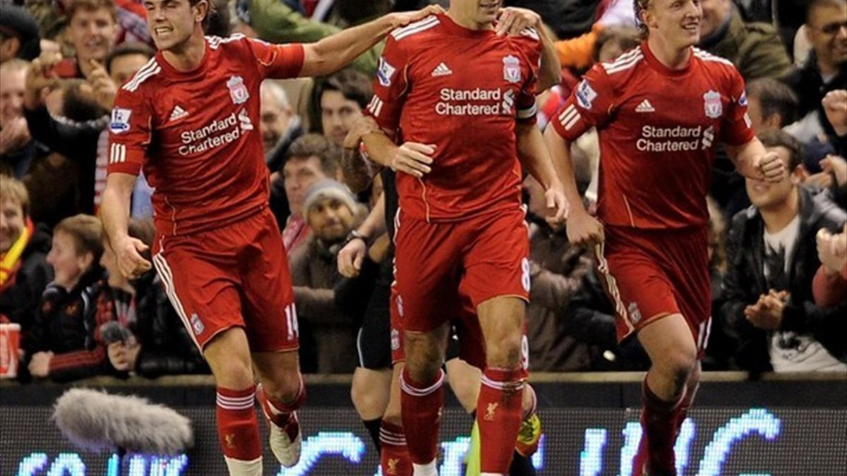 The joy of the Liverpool players up against Manchester City