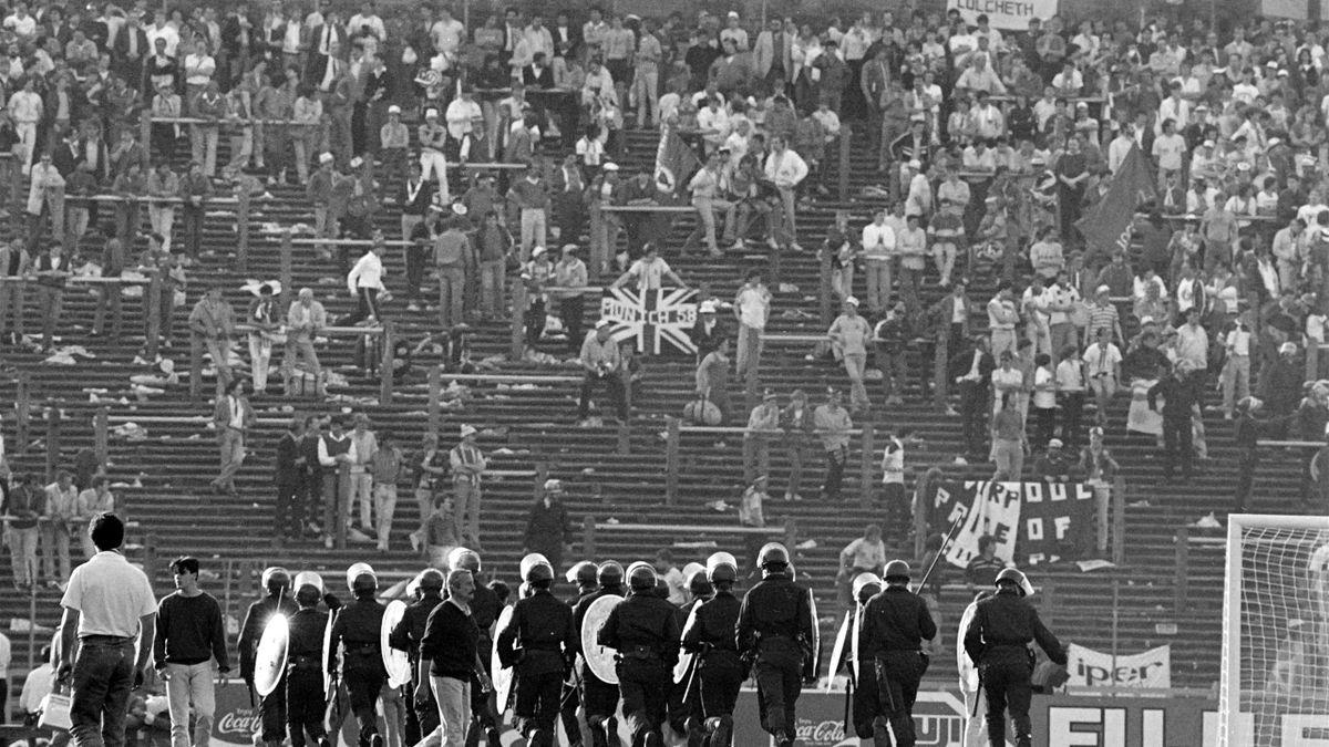 FOOTBALL 1985 in Heysel stadium in Brussels