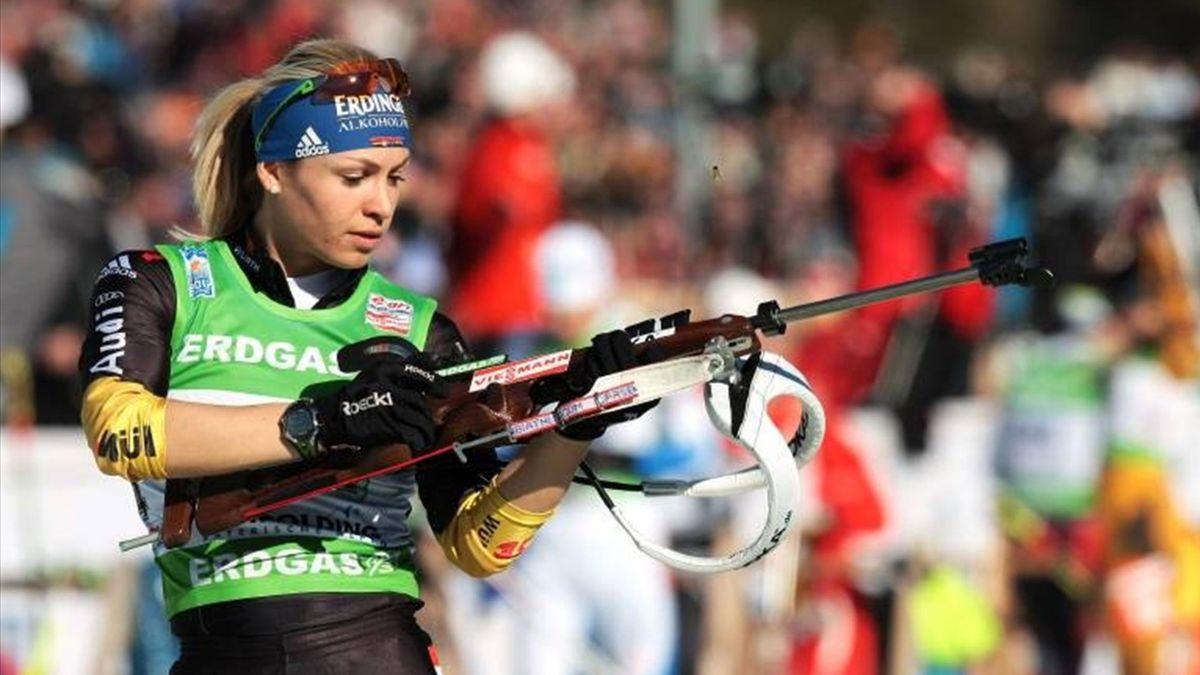 Biathlon WM Ruhpolding Neuner Mixed-Staffel