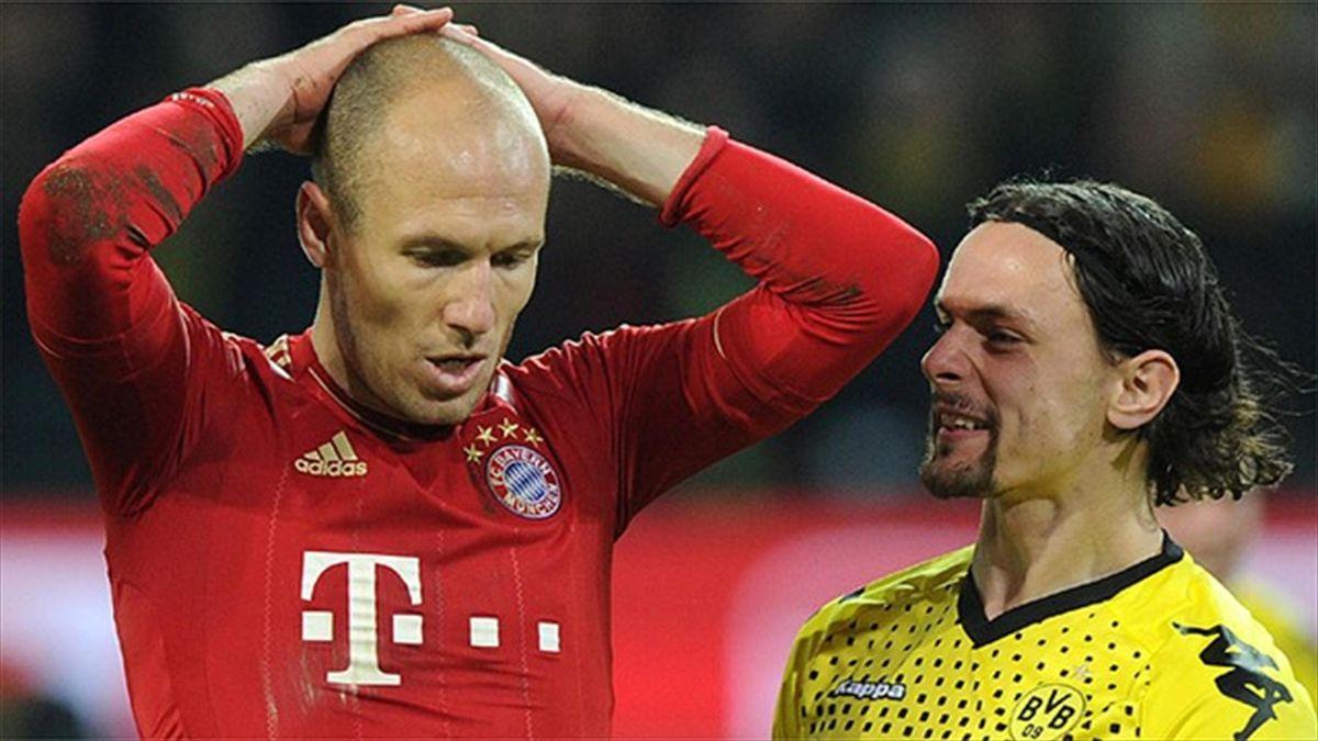 Bayern Munich Borussia Dortmund Arjen Robben Neven Subotic penalty