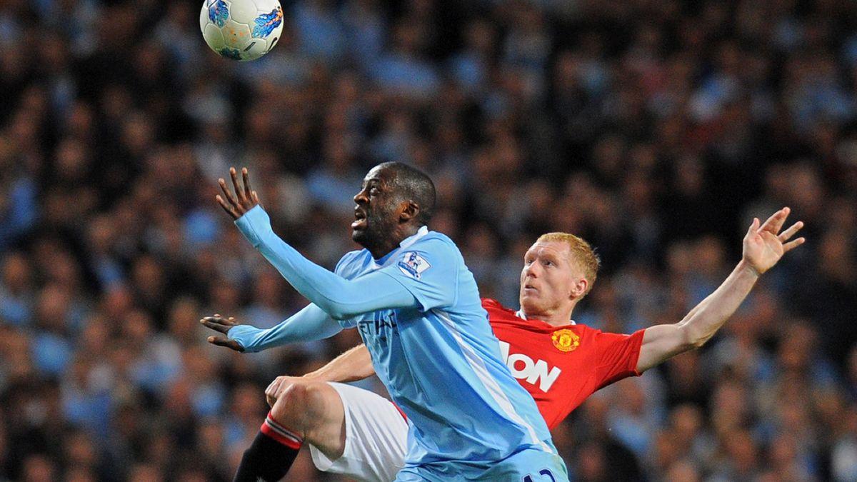 Yaya Touré Paul Scholes Manchester City Manchester United 30/04/12