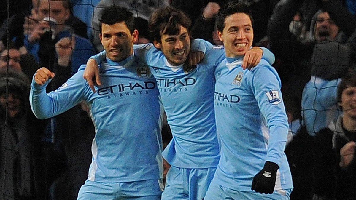 Aguero Silva Nasri Manchester City