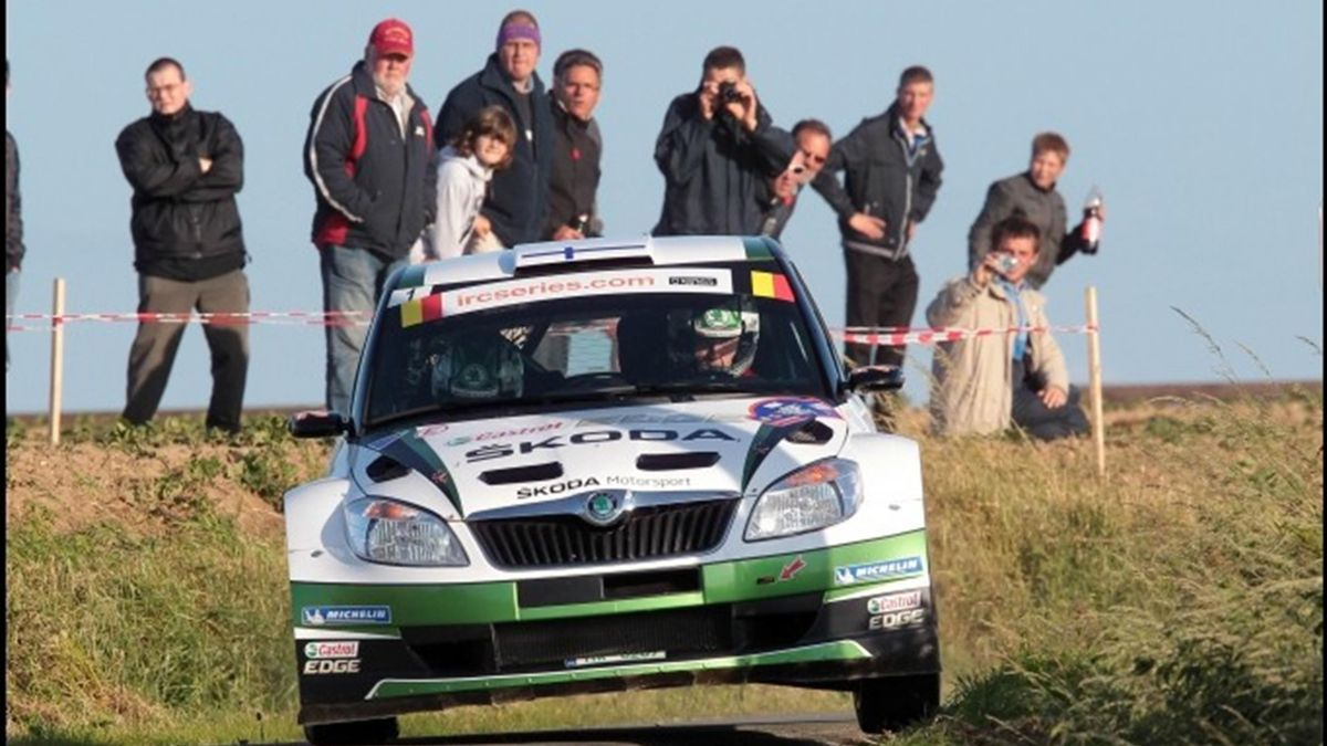 Juho Hanninen competes in France (IRC)
