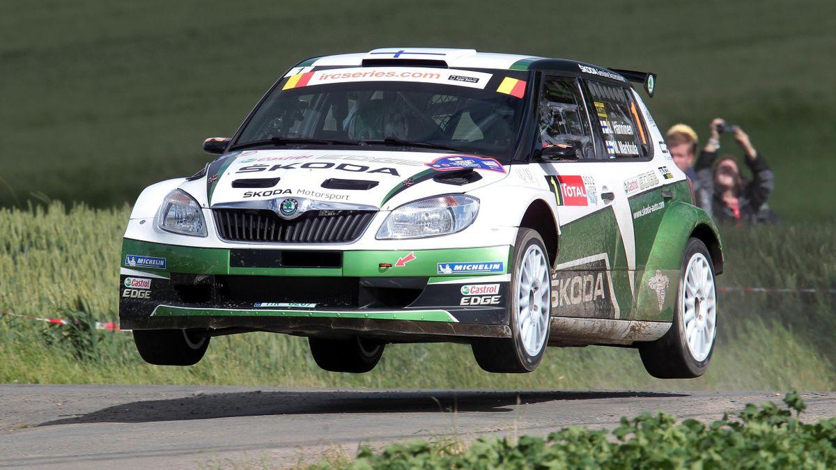 Juho Hanninen win Geko Ypres Rally 2012 Skoda