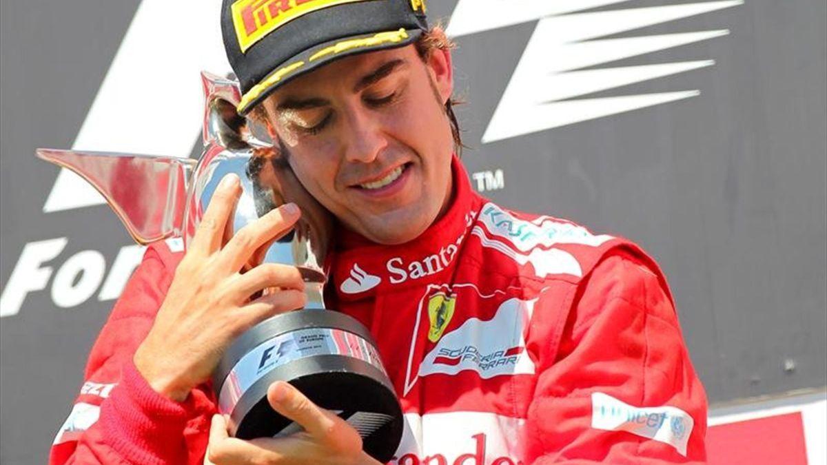 2012 European Grand Prix Fernando Alonso Ferrari