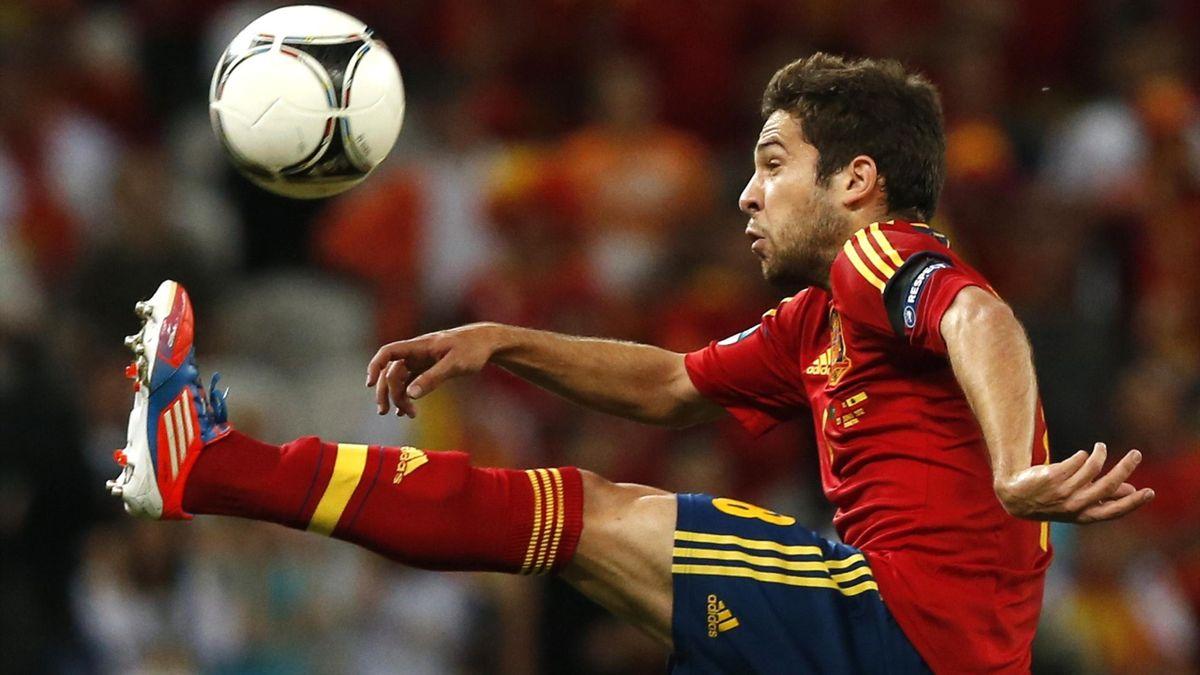 Jordi Alba in action for Spain at Euro 2012