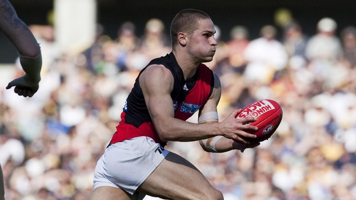 2012 AFL David Zaharakis in action during the Round 22 AFL match between the West Coast Eagles and Essendon Bombers (AAP - AUSTRALIA ONLY)