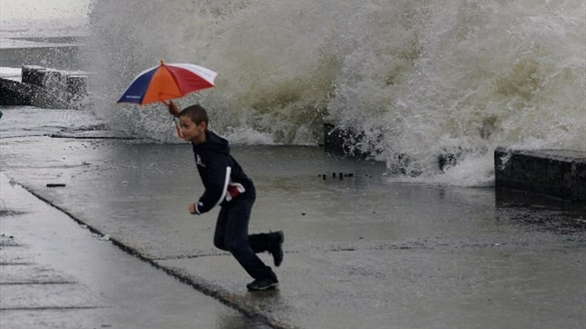Sochi Black Sea storm