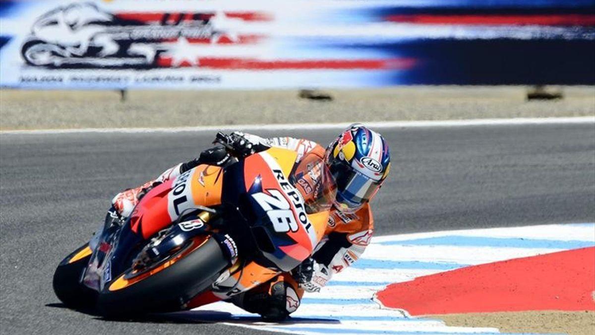 Dani Pedrosa traza una curva en Laguna Seca