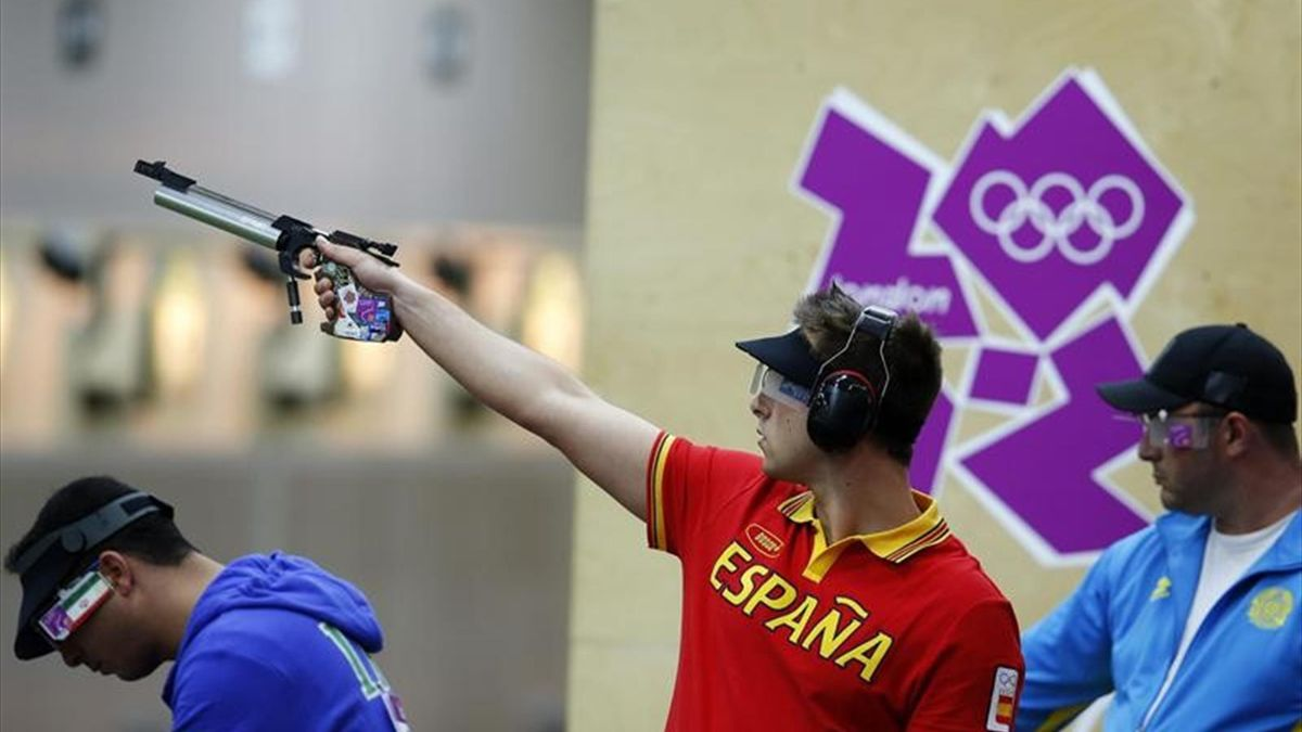 Pablo carrera tiro pistola juegos olímpicos londres