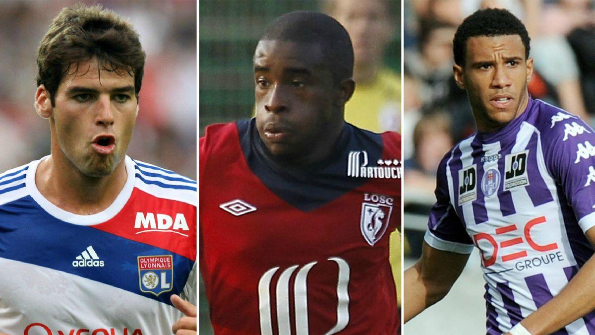 Yoann Gourcuff (Lyon) Rio Mavuba (Lille) Etienne Capoue (Toulouse)
