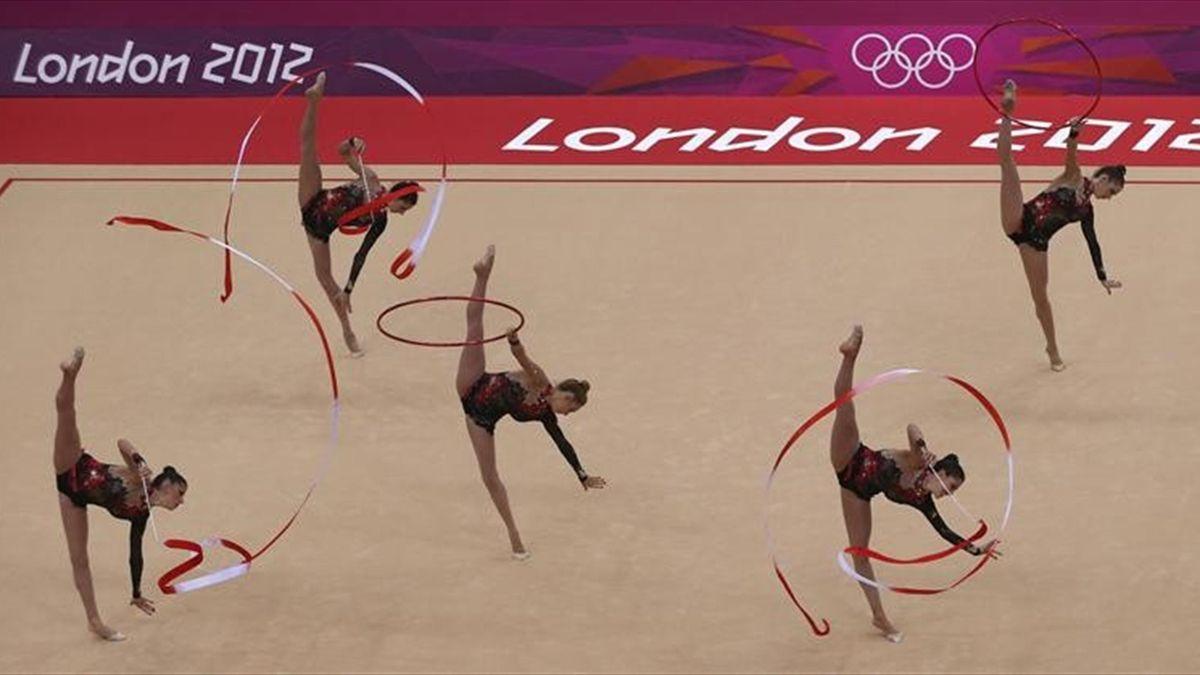 Equipo español de gimnasia rítmica en los Juegos Olímpicos de Londres 2012