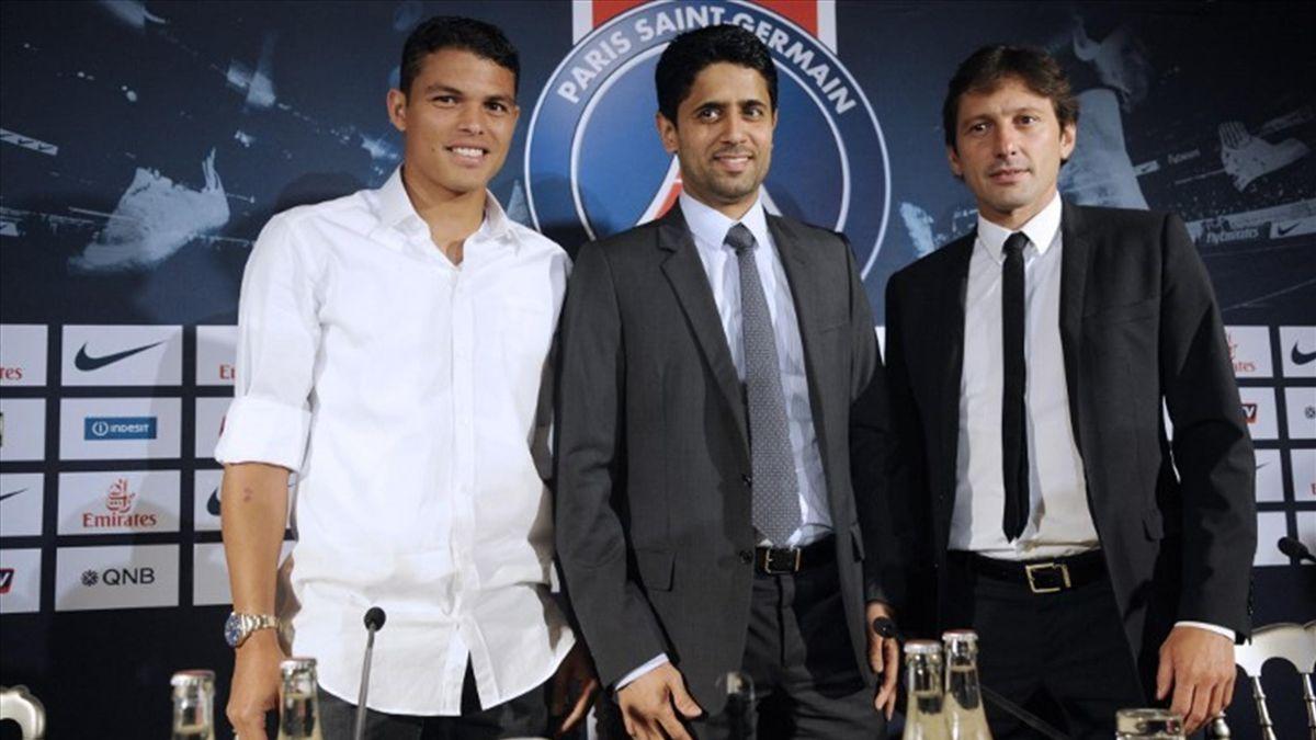 Thiago Silva presentation PSG