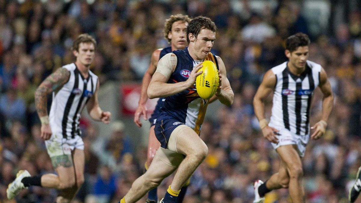 Luke Shuey for the Eagles during the AFL Round 22, West Coast Eagles vs Collingwood match at Patersons Stadium in Perth AAP