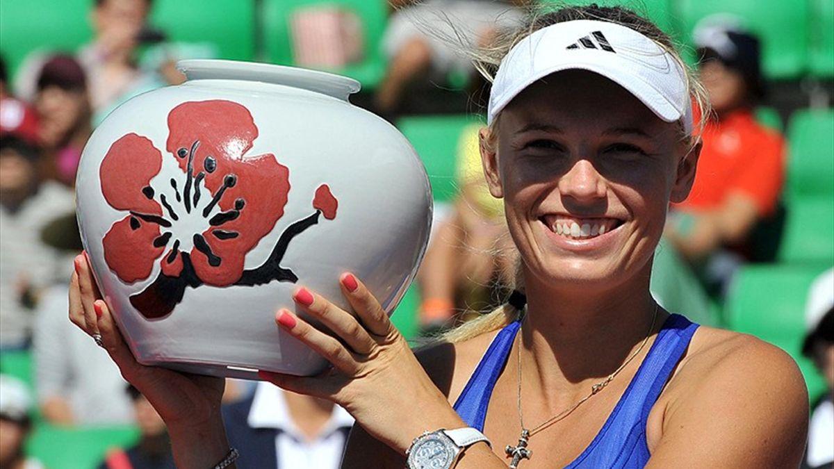 Caroline Wozniacki wins the Korea Open (AFP)