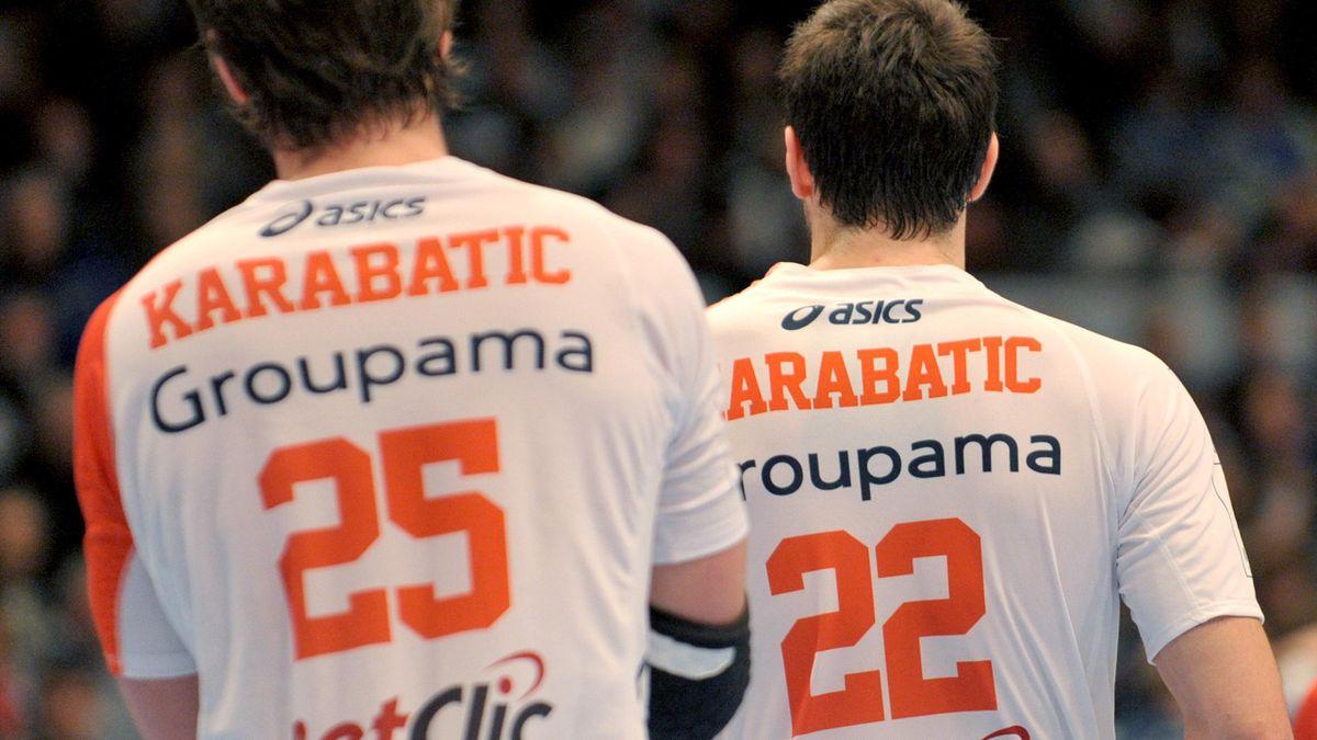 Saison 2012: Luka Karabatic (l), Nikola Karabatic (r), Montpellier HB