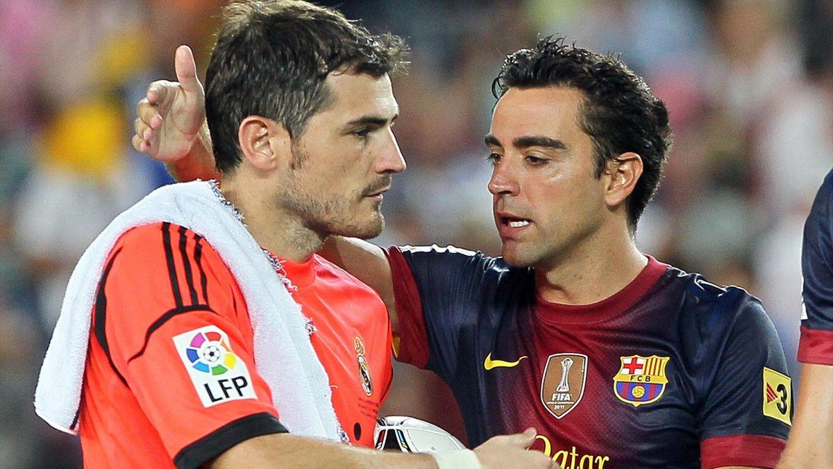 Xavi Hernández Iker Casillas Real Madrid Barcelona