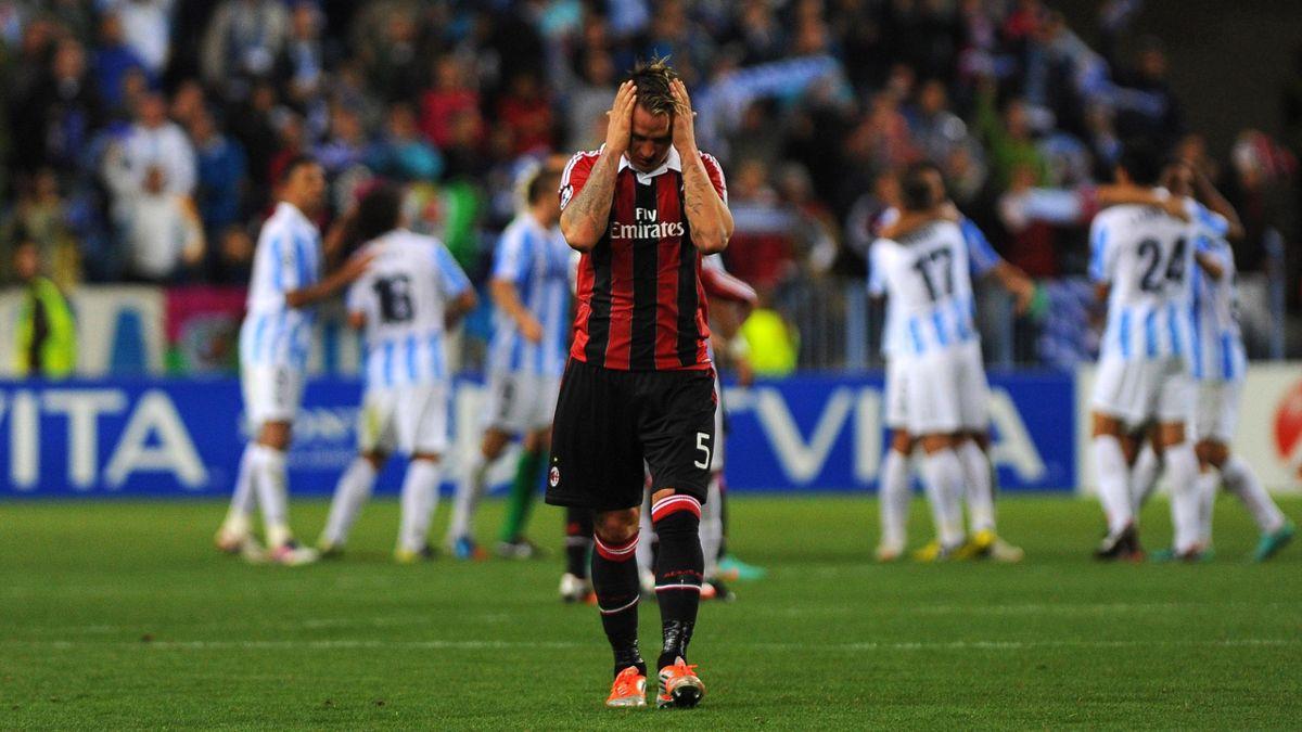 FOOTBALL - 2012/2013 - malaga-Milan - Mexes