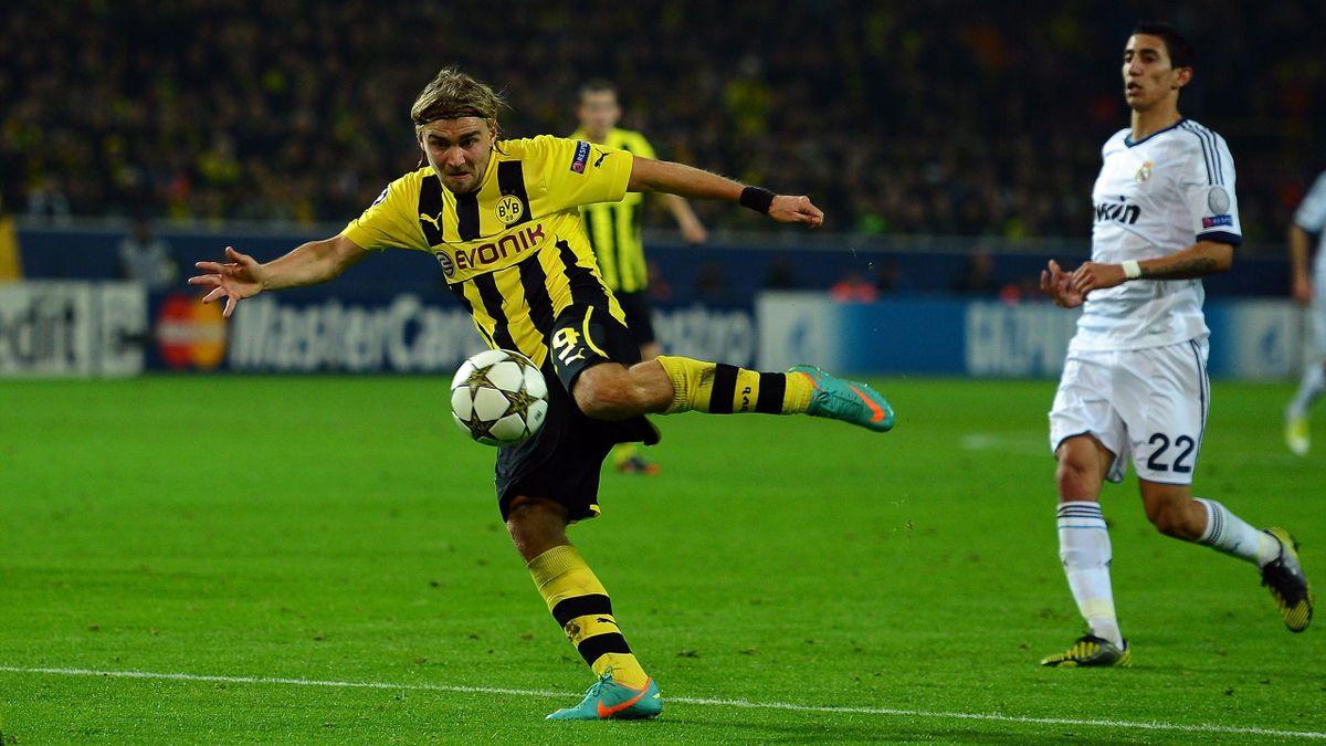 Marcel Schmelzer erzielt das 2:1 für Borussia Dortmund gegen Real Madrid
