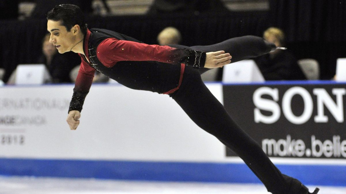 Javier Fernandez of Spain competes in the men's short program during the Skate Canada International figure skating competition in Windsor