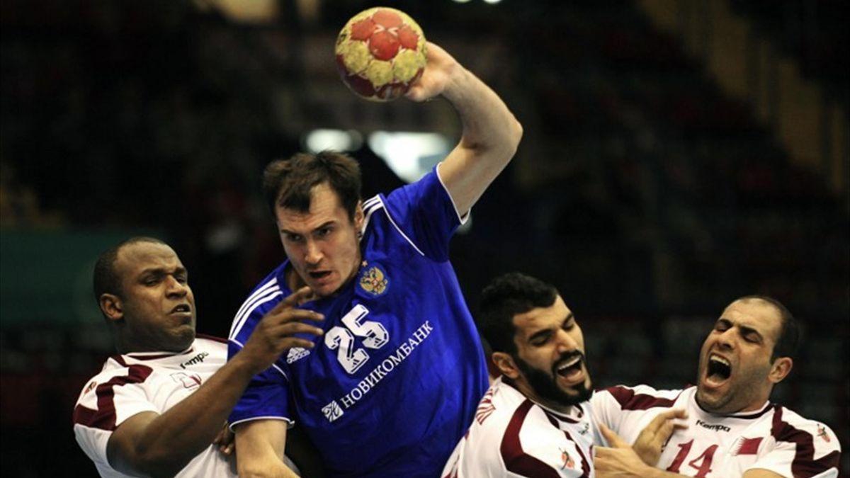 россия катар гандбол