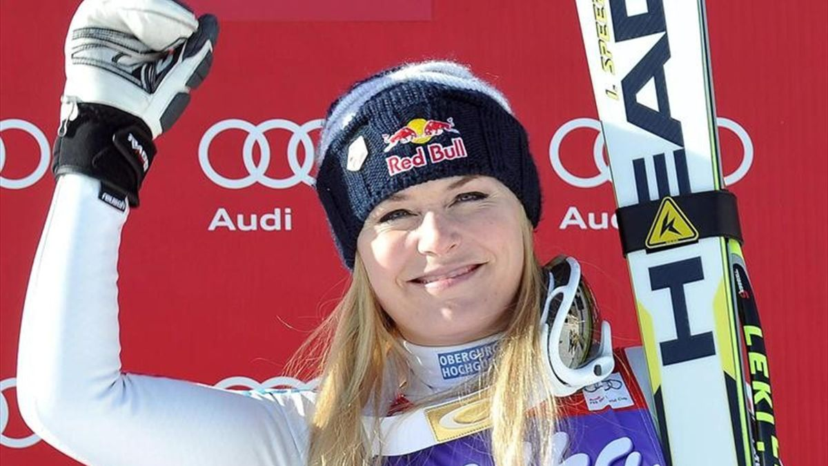 Lindsay Vonn, vencedora en Cortina d'Ampezzo