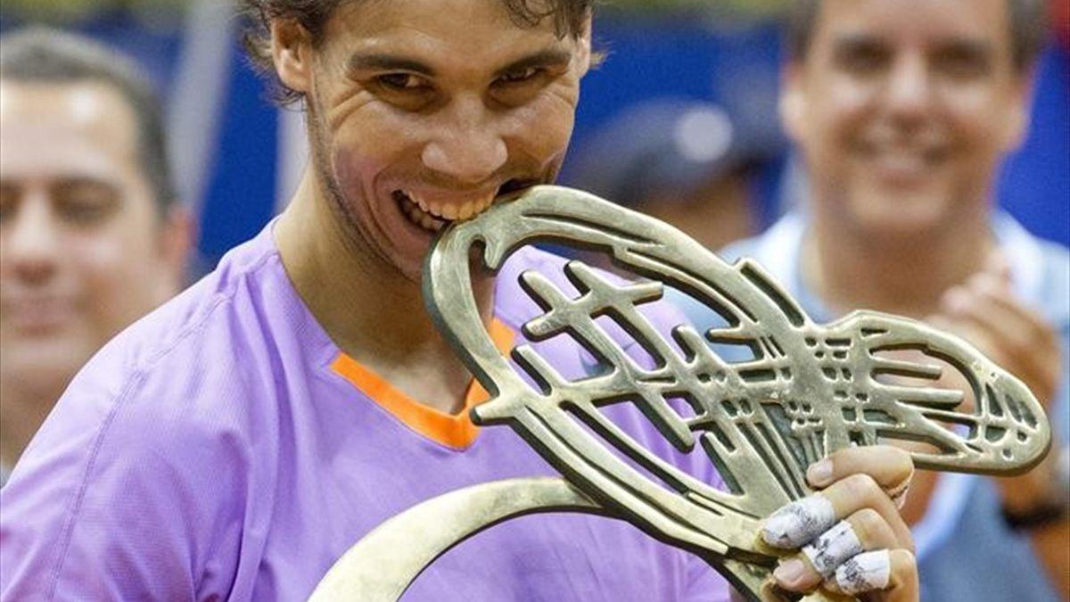 Rafa Nadal tras ganar su título en Sao Paulo