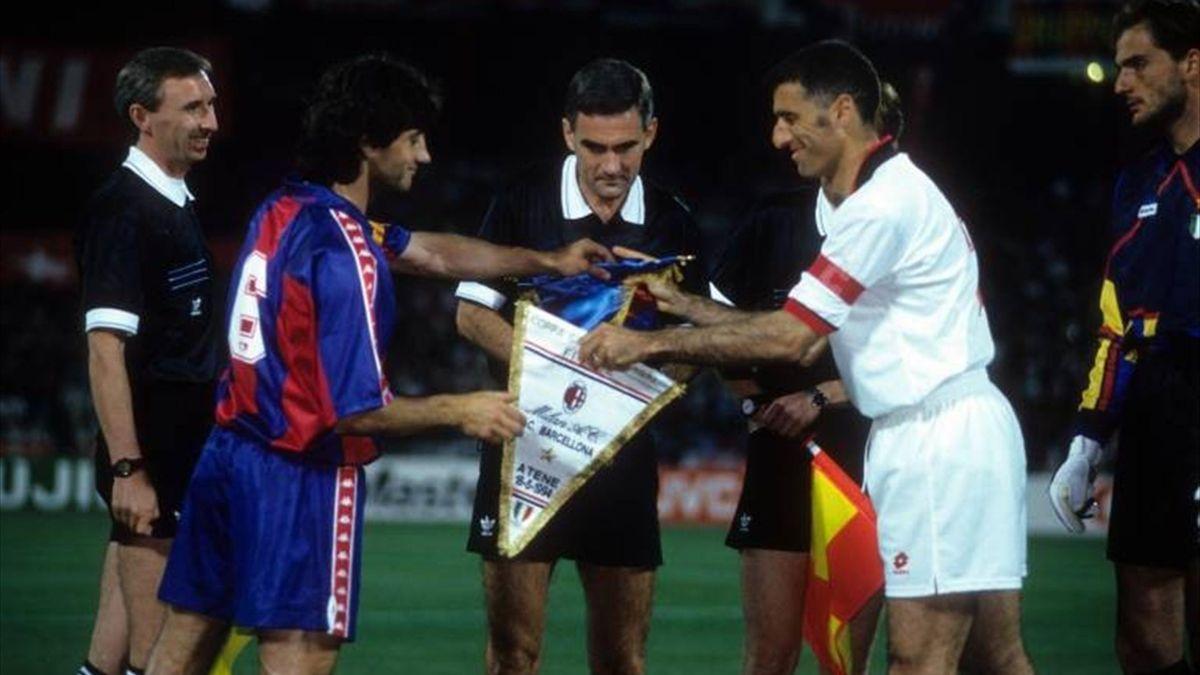 Barça y Milan en la final de la Copa de Europa de 1994
