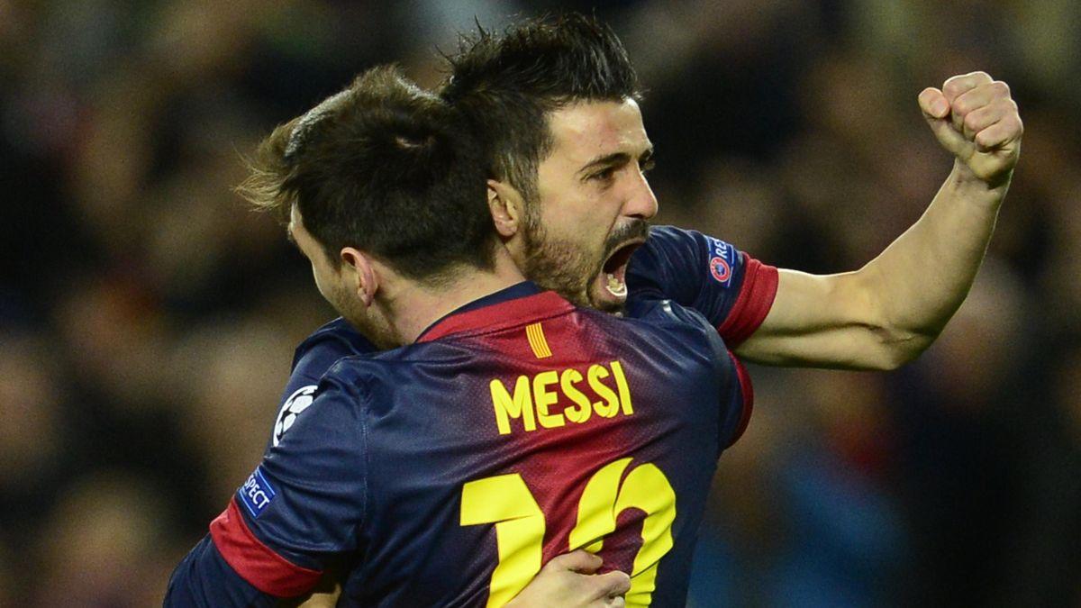 FOOTBALL 2013 Barcelona - Villa et Messi