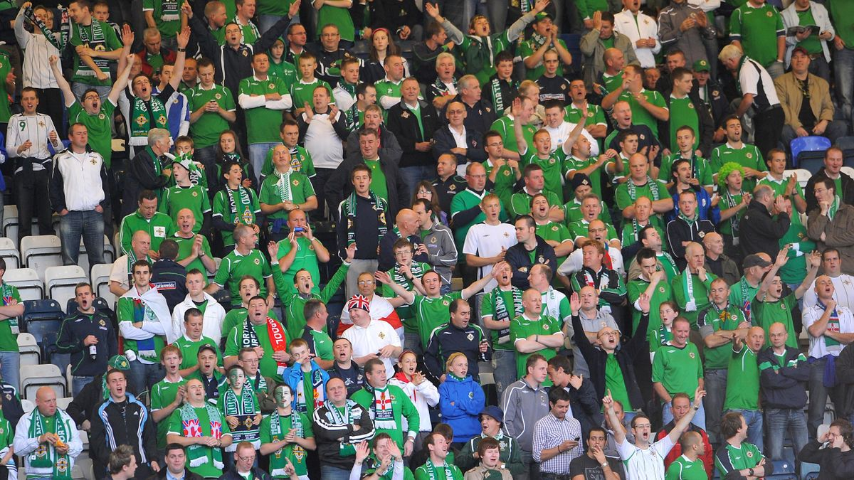 Northern Ireland fans at Windsor Park (PA)