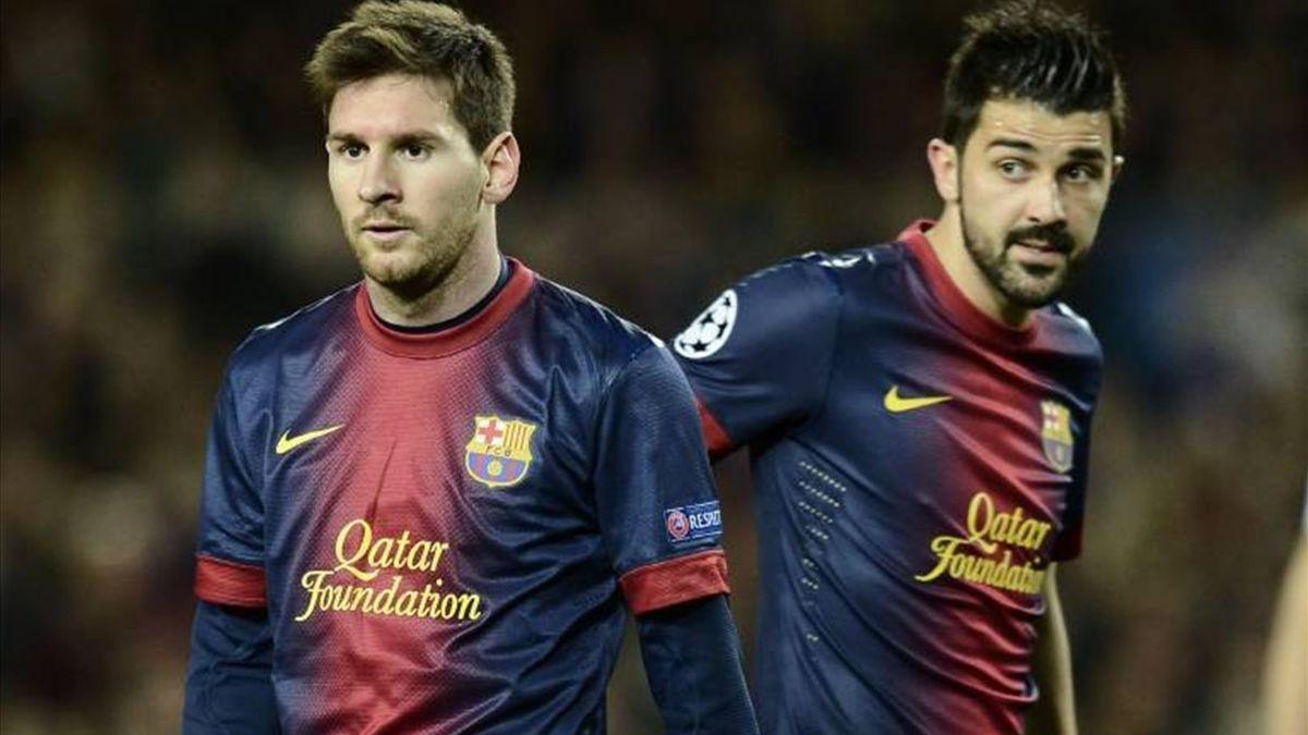David Villa Messi