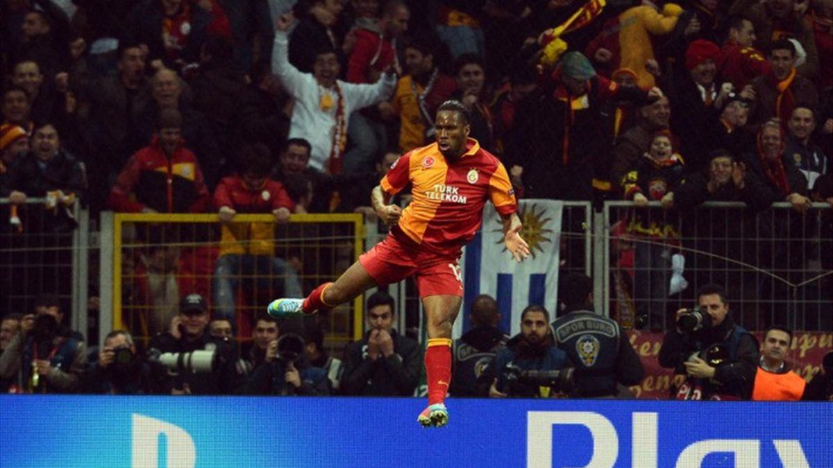 Didier Drogba'nın gol sevinci