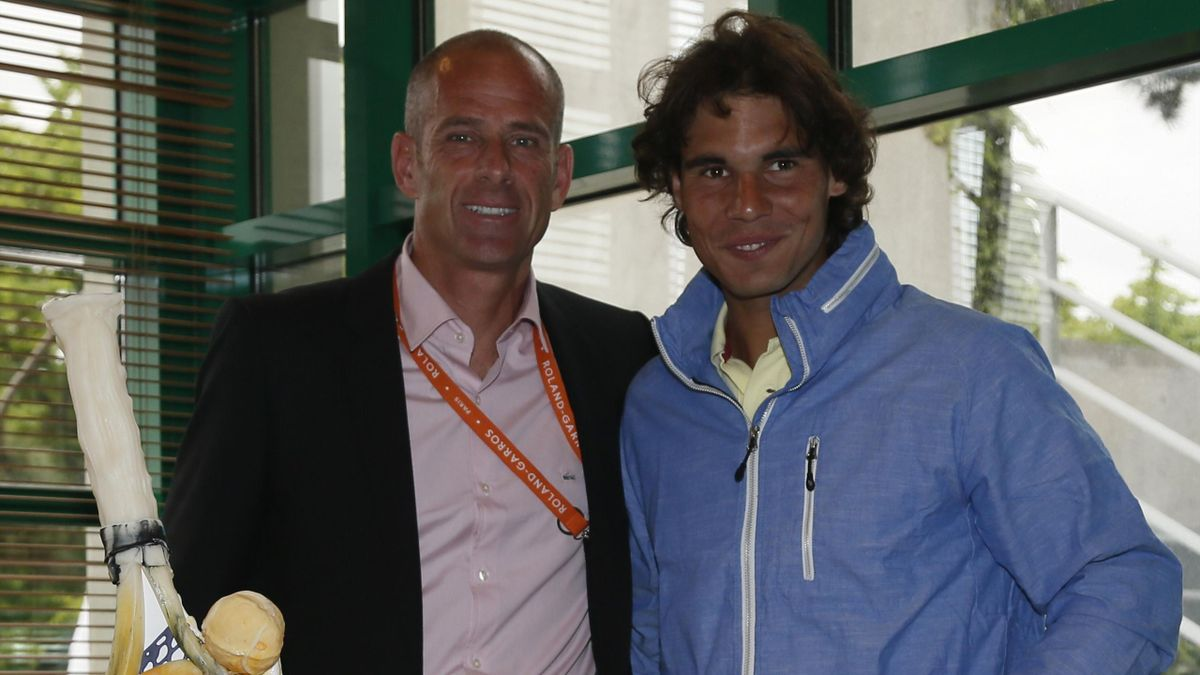 Guy Forget Rafael Nadal