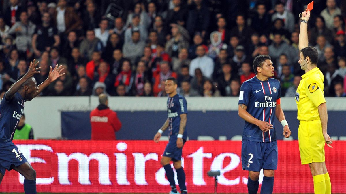 FOOTBALL 2013 PSG-Valenciennes (Thiago Silva)