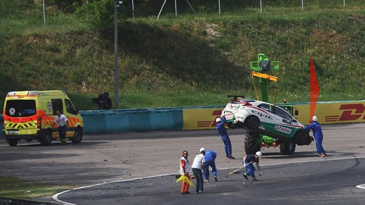Durchgeschüttelt, aber unverletzt: Engstler & Tarquini wieder fit