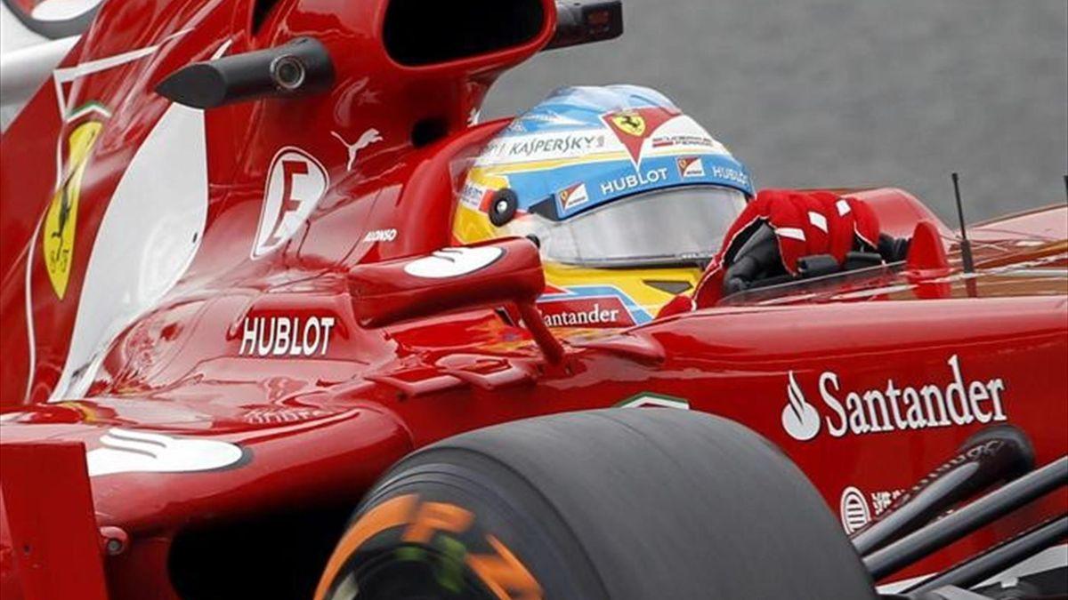 Fernando Alonso en el Gran Premio de España 2013