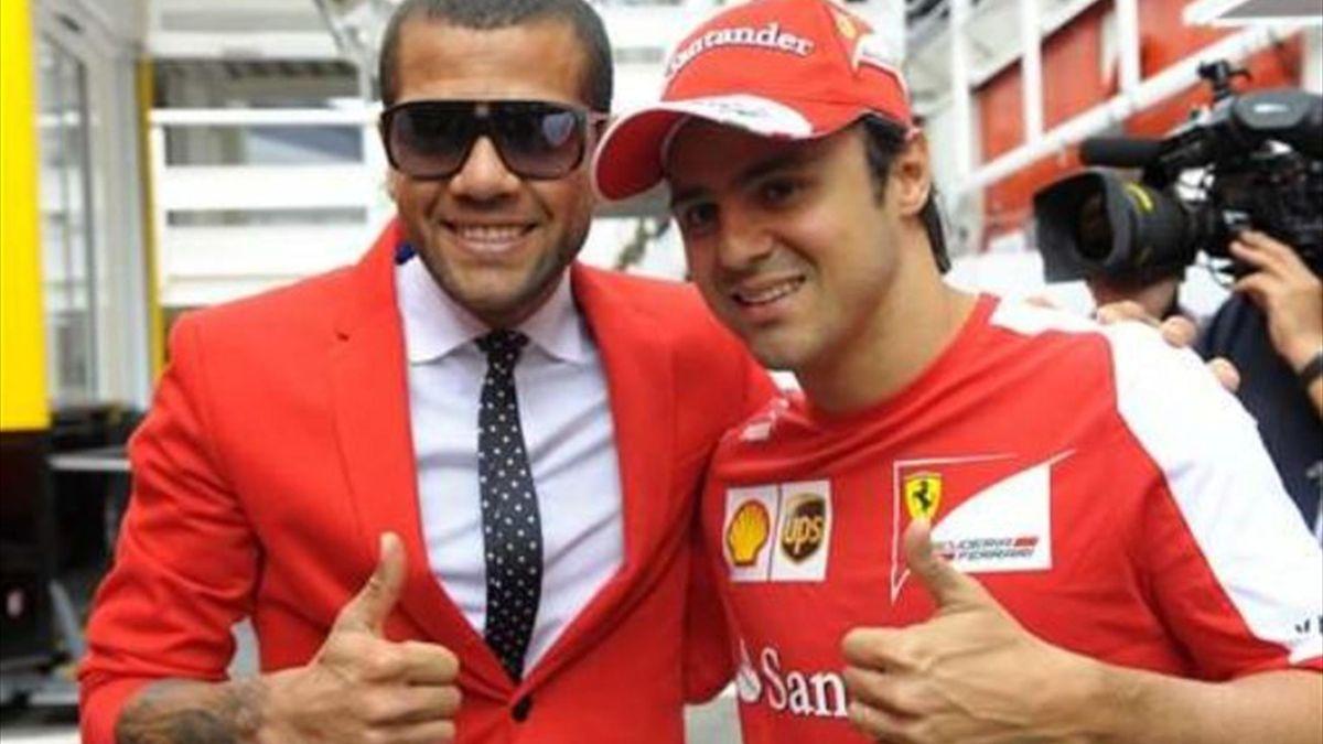 Daniel Alves a rendu visite à son compatriote Felipe Massa