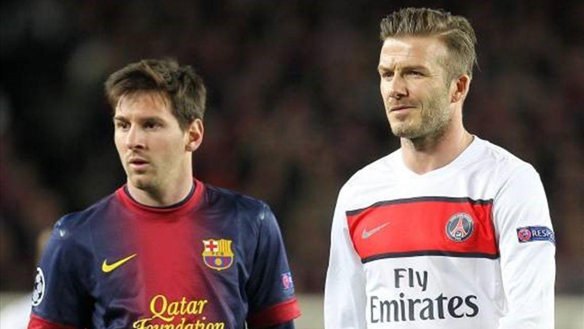 Lionel Messi David Beckham