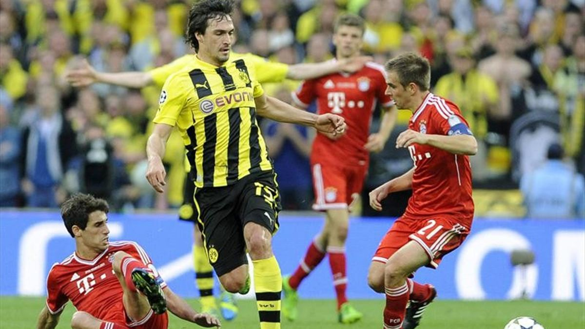 Hummels, en la final Dortmund-Bayern