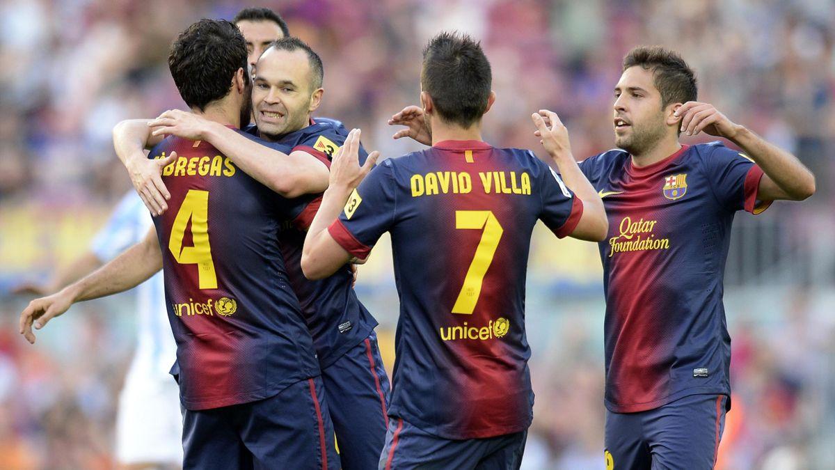 2012-2013 Liga Barcelone-Malaga Joie Barça