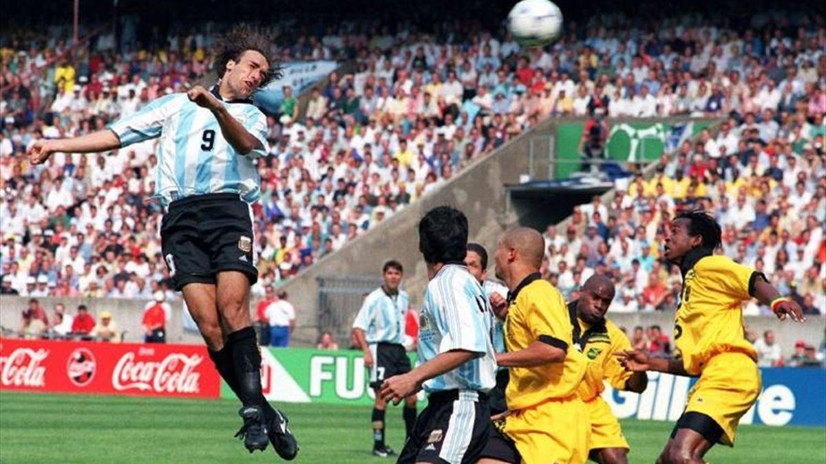 Gabriel Batistuta header shot Jamaica France 1998
