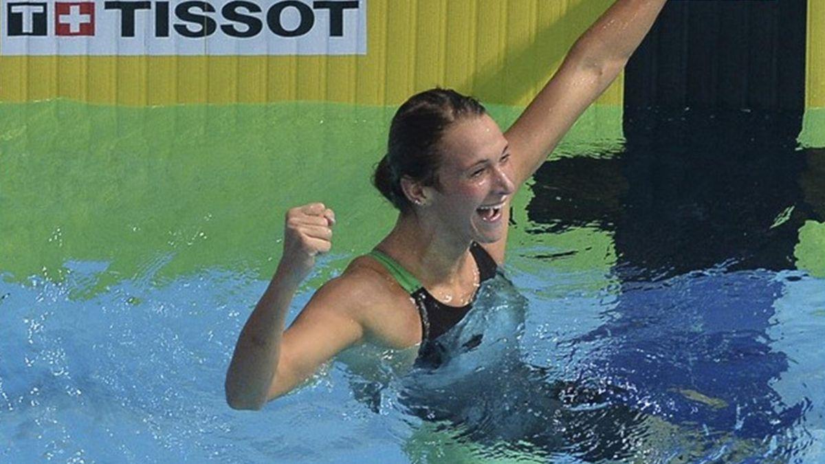 Russian swimmer Yana Martynova at the 27th Summer Universiade in Kazan