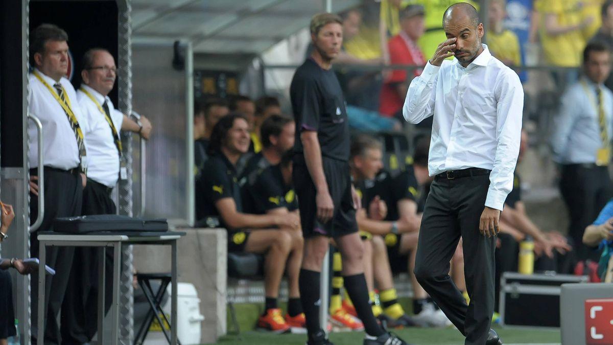 Guardiola Dortmund Bayern Supercoupe d'Allemagne