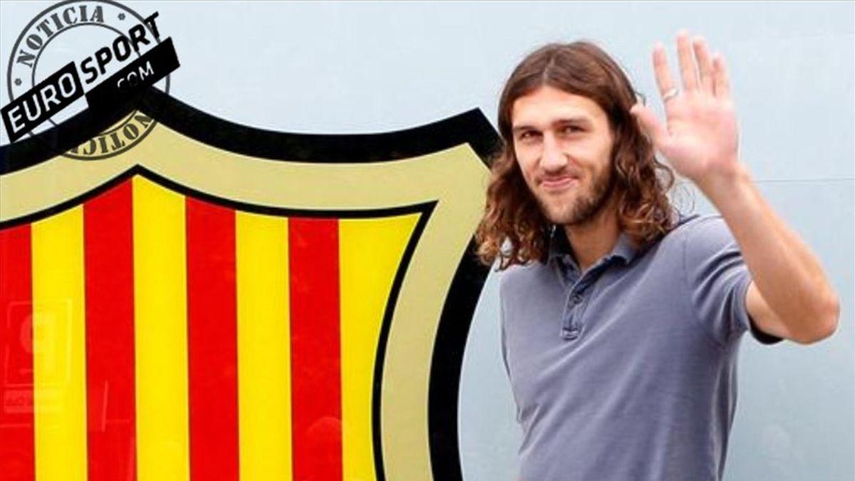 Dimitro Chygrynskiy en su presentación con el Barcelona (Noticia Eurosport)